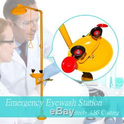304 Stain Steel+ABS Coating Combination Shower Emergency Eyewash Station New Top