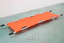 Aluminum alloy foldable stretcher medical/home patient emergency stretcher bed