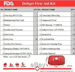 DeftGet First Aid Kit Red Cross Medical Emergency Equipment Kits