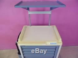 Electronic Lock With Combo MMP MedCart 6 Drawer Steel Emergency Crash Cart Stand
