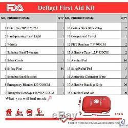 First Aid Kit 163 Piece Medical Emergency Equipment Kits