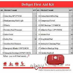 First Aid Kit Waterproof Injuries Medical Emergency Equipment For Camping Travel