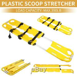 Foldable Plastic Scoop Stretcher Emergency Stretcher Adjustable Ambulance 390LB