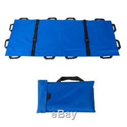 Foldable Rescue Patient Stretcher Medical Emergency FirstAid Equipment Blue