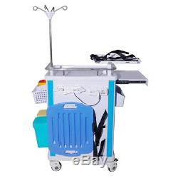 Medical Emergency Rolling Trolley Movable Operating Room Trolley f dental clinic