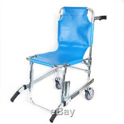 Medical Stair Stretcher Ambulance Wheel Chair New Equipment Emergency Chair Blue