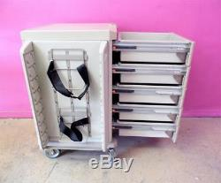 Metro Starsys Butterfly Medical 5 Drawer Emergency Procedure Cart Supply Stand