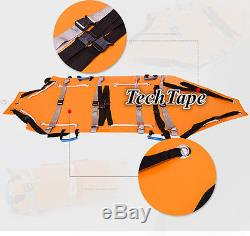 Orange Roll Rescue stretcher Folding multifunctional Fire emergency Height use
