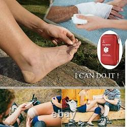 Portable Essential Injuries & Red Cross Medical Emergency Equipment Kits For Car