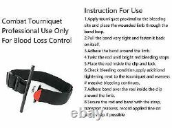 Tourniquet Tactical Emergency One-Handed Medical Aid Equipment, Black, 1 Piece