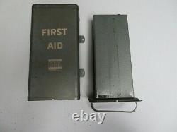Vtg Davis Emergency Equipment Company First Aid Medical Kit Supplies WWII