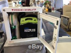 ZOLL AED Plus Defibrillator with Life O2 SoftPac Emergency Oxygen in Case